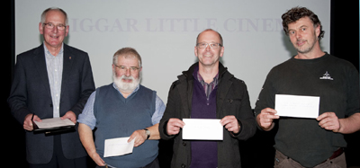 Cheque presentations Sunday 30th October 2011